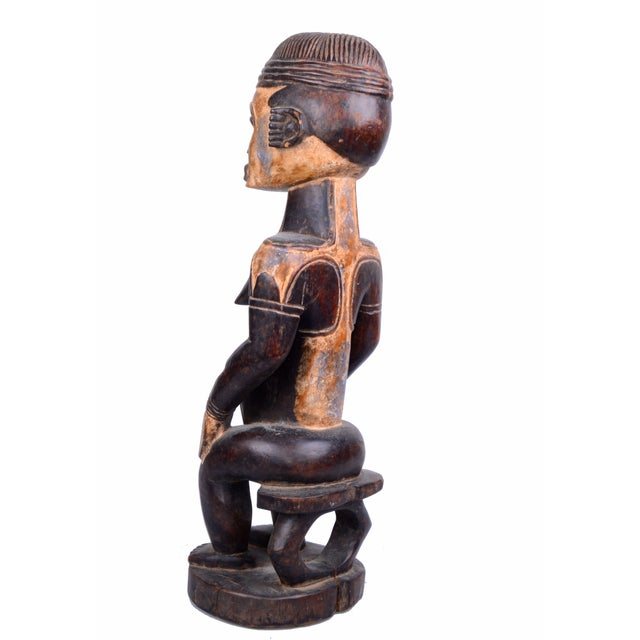 Vintage African Tribal Woman Sculpture - Image 9 of 9