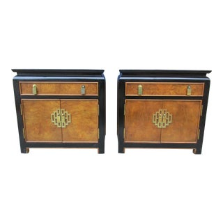 Late 20th Century Century Furniture Chin Hua Nightstands - A Pair For Sale