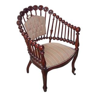 19th Century Victorian Hunzinger Lollipop Arm Chair