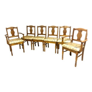 Ducal of London Pine Dining Chairs - Set of 6 For Sale