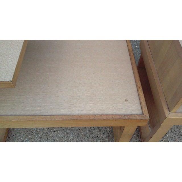 Paul Laszlo Paul Laszlo Style Blonde End Tables-A Pair For Sale - Image 4 of 12