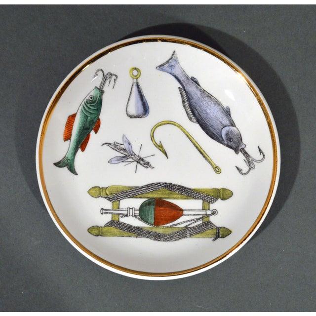 Piero Fornasetti La Pesca Fishing Lures Coaster Set With Original Box For Sale - Image 10 of 13