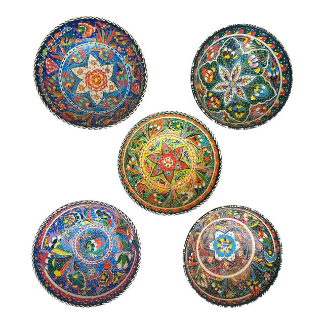 Turkish Anatolian Bowls - Set of 5 - Image 1 of 6