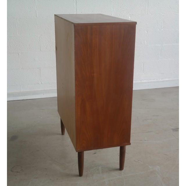 Danish Modern Teak Tallboy Dresser - Image 4 of 6