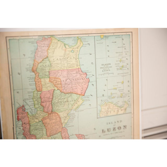 Old New House Cram's 1907 Map of Luzon For Sale - Image 4 of 5