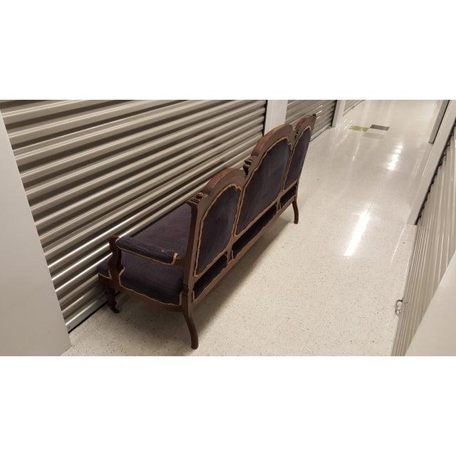 Antique Eastlake Design Settee - Image 8 of 8