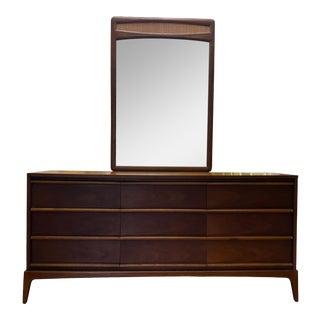 Lane Rhythm Mid-Century 9 Drawer Dresser With Mirror For Sale