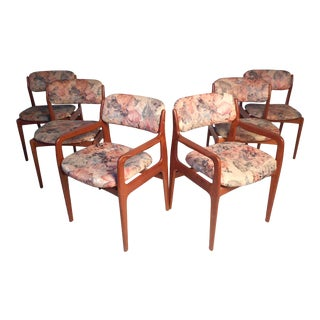 Set of 6 Danish Modern Dining Chairs by Benny Linden For Sale