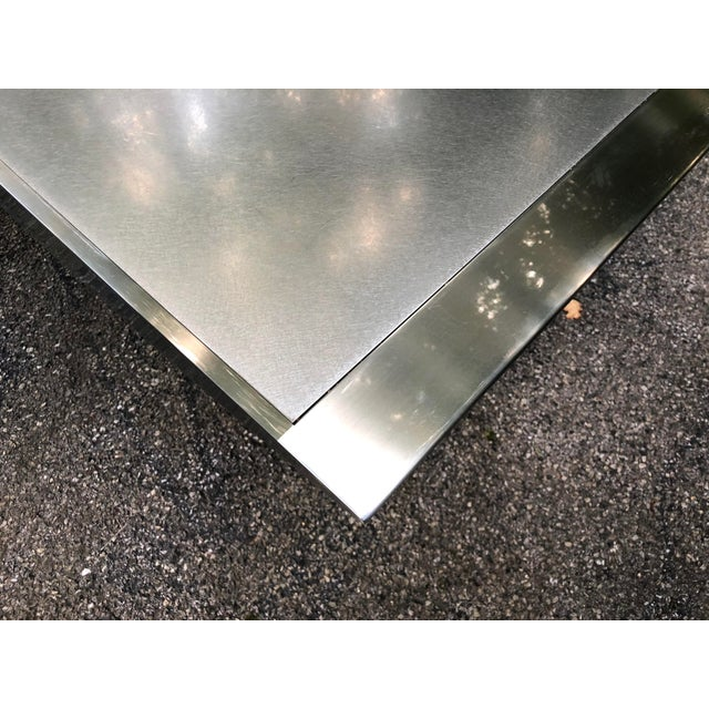 Stanley Friedman Stainless Steel Dining Table for Brueton For Sale - Image 9 of 13