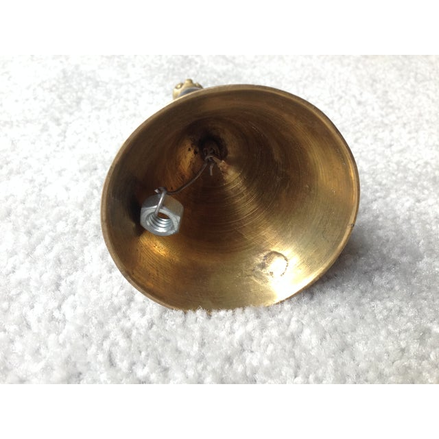 Vintage Brass Bell in Red, Green and Blue Tones - Image 5 of 9