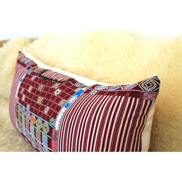 """Boho Chic """"The Ella"""" Guatemalan Pillow For Sale - Image 3 of 3"""