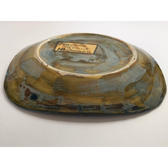 Hand-Painted Charger by Master Potter Marjatta Taburet Quimper France Circa 1960 For Sale In Los Angeles - Image 6 of 10