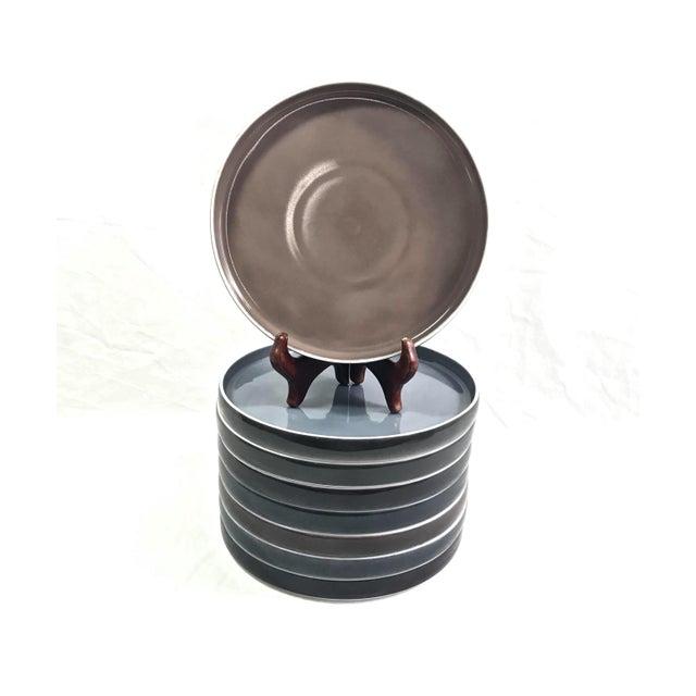 Ceramic 1970s Block Chromatics Salad Plates, Set of 8 For Sale - Image 7 of 7