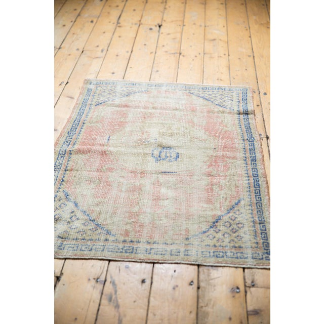 """Vintage Distressed Oushak Square Rug - 2'10"""" X 4' For Sale In New York - Image 6 of 9"""