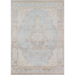 "Momeni Isabella Alisha Blue 5'3"" X 7'3"" Area Rug For Sale"