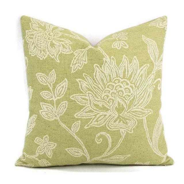 Colefax and Fowler Kenrick Floral Jacquard Pillow Cover For Sale In Portland, OR - Image 6 of 6