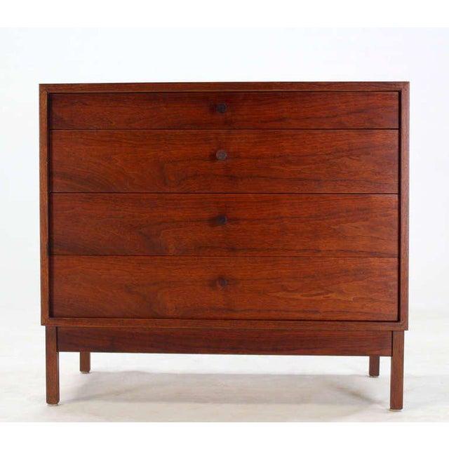 Mid Century Modern Walnut Four Drawer Bachelor Dresser For Sale In New York - Image 6 of 9