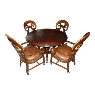 20th Century Spanish Colonial Drexel Heritage Dining Set - 5 Pieces For Sale