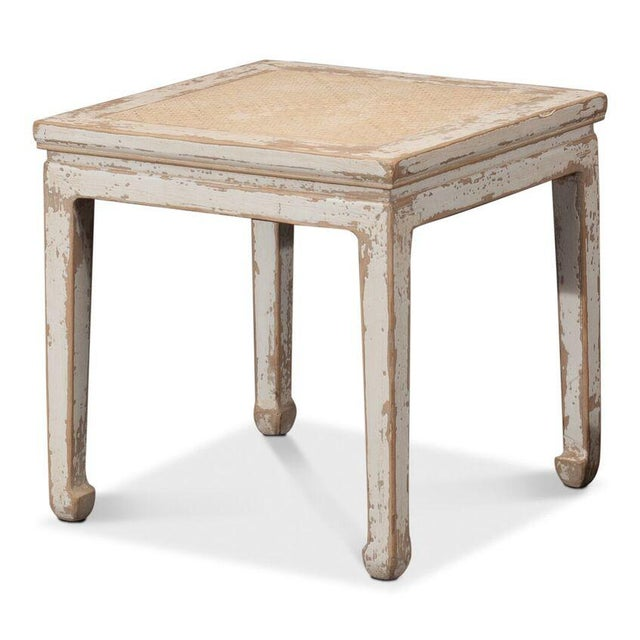 Sarreid Ltd Square Rattan Stool - Image 2 of 6