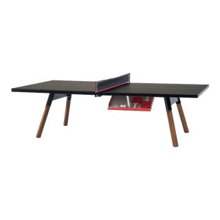 RS Barcelona You and Me Indoor/Outdoor Ping Pong Table, Black For Sale