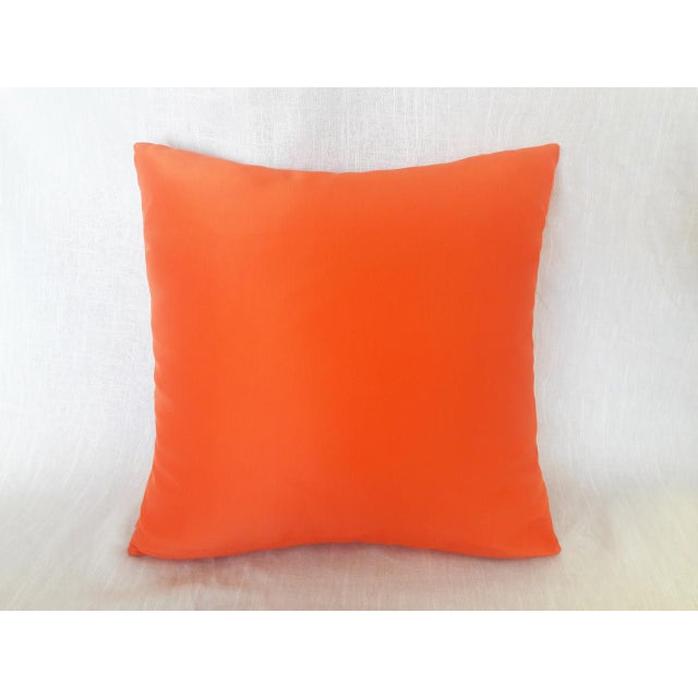 Contemporary Contemporary Solid Orange Pillow For Sale - Image 3 of 3