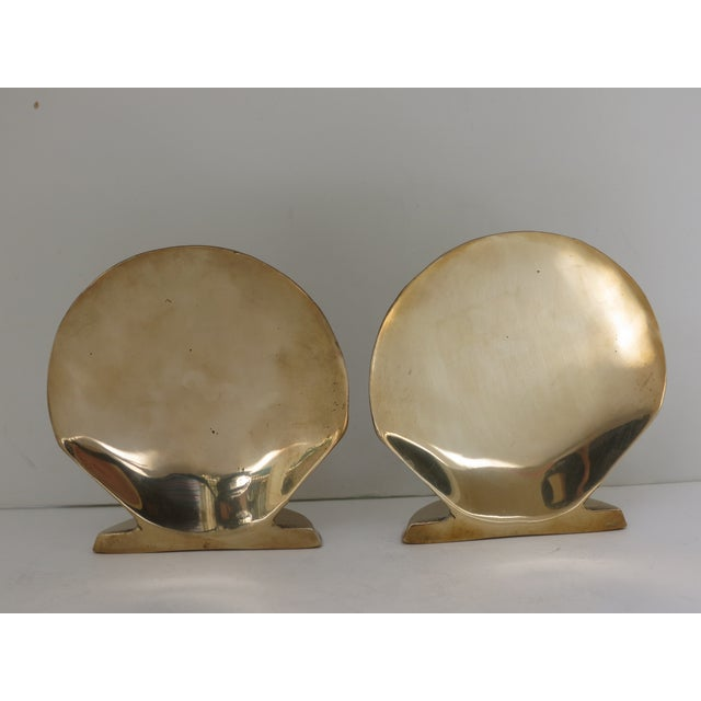 Vintage Brass Seashell Bookends - A Pair - Image 3 of 7