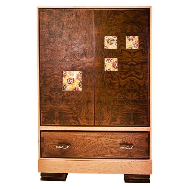 """Window"" Burl Wood Cabinet For Sale In San Francisco - Image 6 of 6"