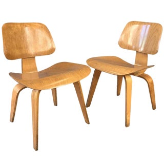 1940s Vintage Eames for Herman Miller Evans Production Ash Chairs - a Pair