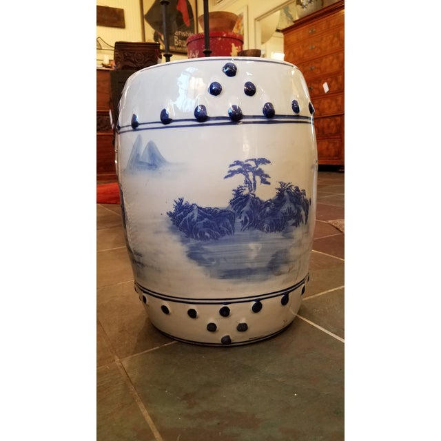 Asian Late 20th Century Vintage Chinese Porcelain Garden Stool For Sale - Image 3 of 6