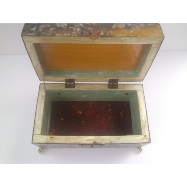 Vintage Celluloid Jewelry Box - Made for Mother - Image 5 of 10