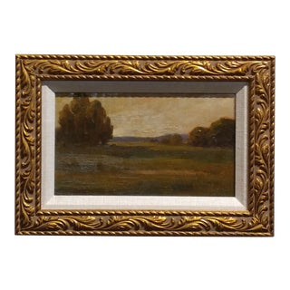 Amedee Joullin - Landscape at Sunset-19th century California impressionist-Oil painting