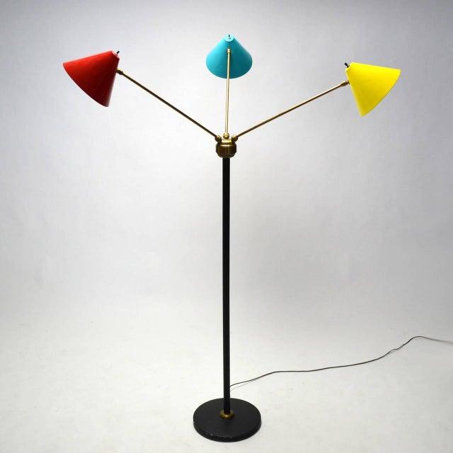 Italian Three-Arm Floor Lamp For Sale - Image 11 of 11