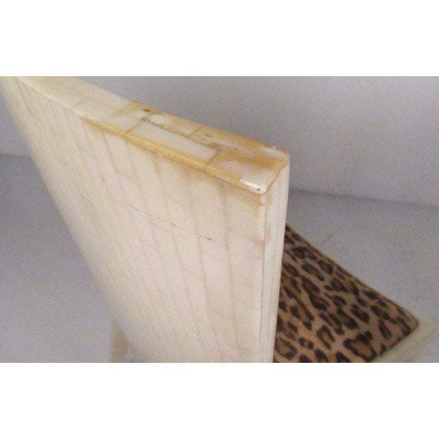 Hollywood Regency Enrique Garcel Tessellated Bone Card Table With Chairs For Sale - Image 3 of 11