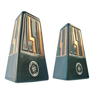 Harris Mid Century Art Pottery Candle Holder - a Pair