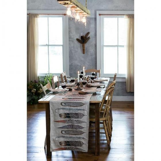Feathers Table Runner For Sale - Image 5 of 7