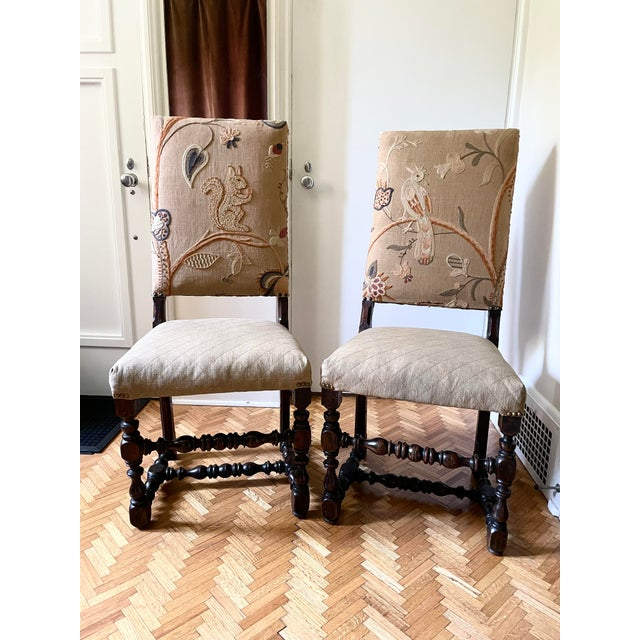 Mid 17th Century Walnut Franco Flemish Louis XIII Baroque Fireside Chairs - a Pair For Sale - Image 13 of 13