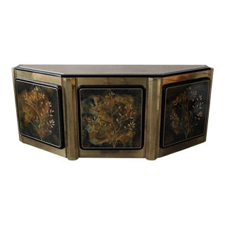 Brass Tree of Life Credenza by Bernhard Rohne for Mastercraft For Sale