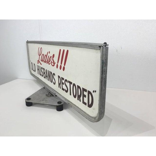 "Modern ""Old Husbands Restored"" Trade/Store Display Sign For Sale - Image 3 of 5"