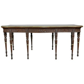 George III Style Finely Carved Mahogany Serving Table For Sale