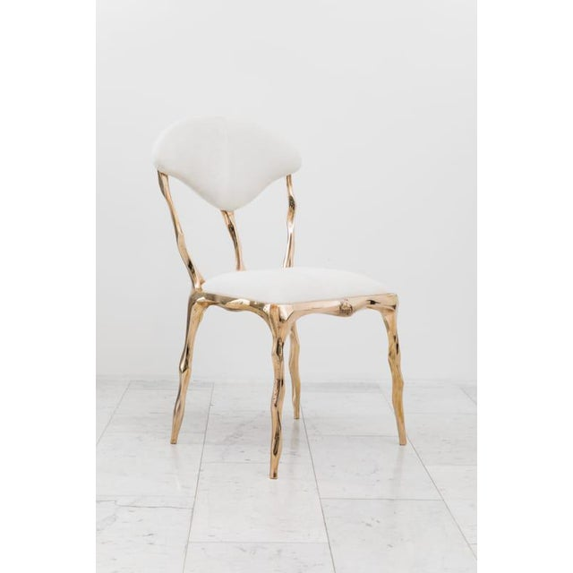 Markus Haase, Faceted Bronze Dining Chair, Usa, 2018 For Sale - Image 12 of 13