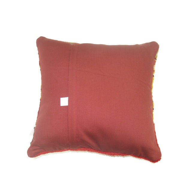 Boho Chic Antique Oushak Pillow For Sale - Image 3 of 3