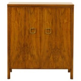 Image of Exquisite Widdicomb Chest in Bookmatched Black Walnut For Sale