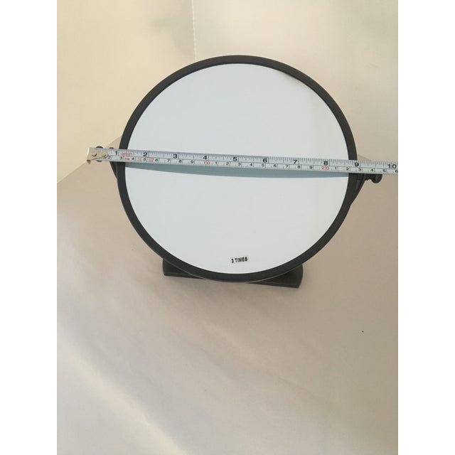 Restoration Hardware Restoration Hardware Bistro Oil Rubbed Bronze Wall Mount Round Bathroom Mirror For Sale - Image 4 of 8
