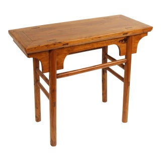 1920s Chinese Hard Wood Altar Table For Sale