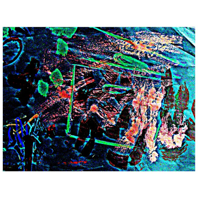 Box Splatter Coral Reef Print by Alaina - Image 1 of 2