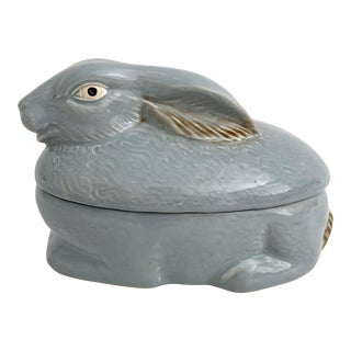 French Majolica Rabbit Pate Tureen For Sale