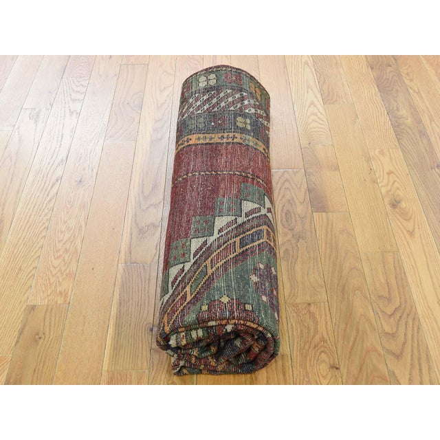 Antique Caucasian Kazak Hand Knotted Rug- 5′9″ × 8′5″ For Sale - Image 10 of 13