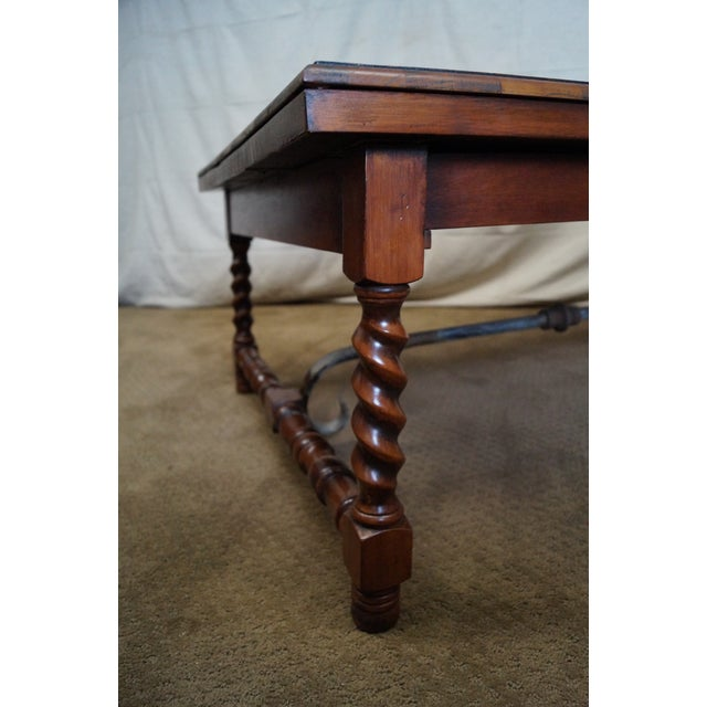 Quality English Oyster Wood Large Coffee Table - Image 8 of 9