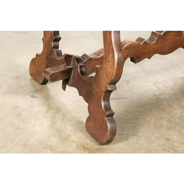 Antique Spanish Colonial Style Oak Coffee Table For Sale - Image 9 of 10