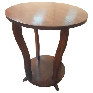 1920's Art Deco Round Side Table For Sale